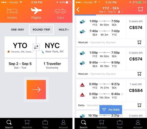 Travel app in 2020
